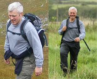 Andrew Bridgewater - before and after losing 50lbs in 6 months of 2007